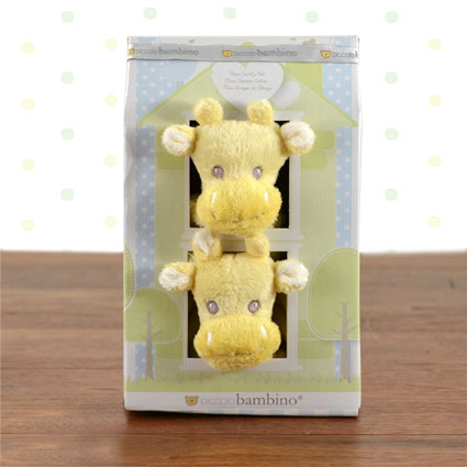 Mini Cuddly Pals Giraffe Blankies Gift Set